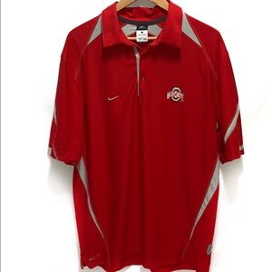 Nike Dri-Fit Ohio State Buckeyes Polo Size Large